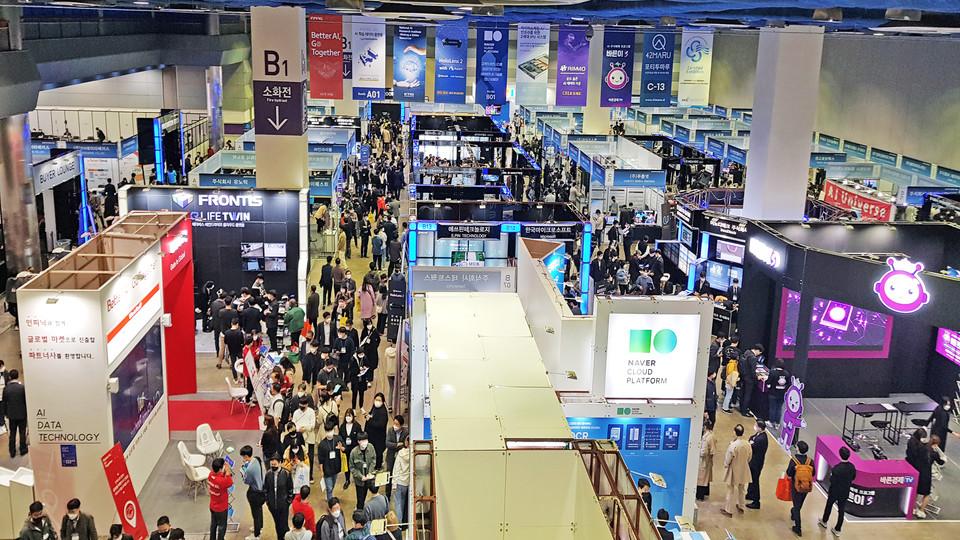 제4회 국제인공지능대전(AI EXPO KOREA 2021) 전경